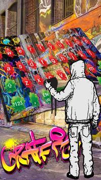 Graffiti color inkjet cool hip hop keyboard poster