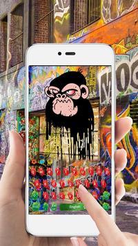 Graffiti color inkjet cool hip hop keyboard apk screenshot