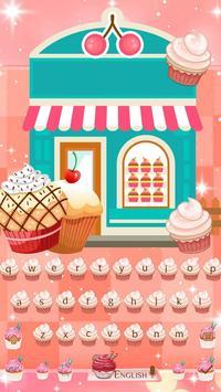 Divine Delicious Cupcakes Keyboard Theme 2D screenshot 3