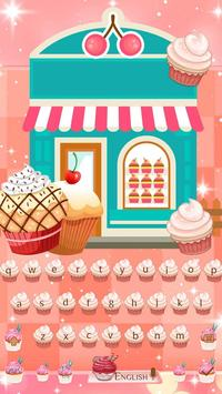 Divine Delicious Cupcakes Keyboard Theme 2D screenshot 3
