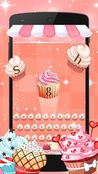 Divine Delicious Cupcakes Keyboard Theme 2D screenshot 1