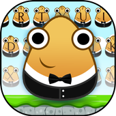 Cute Pou Friends Keyboard Theme icon