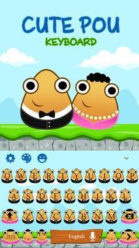 Cute Pou Friends Keyboard Theme apk screenshot