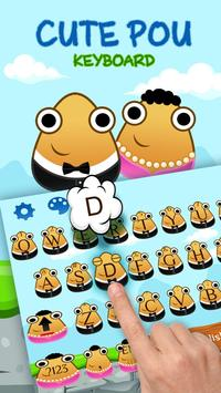 Cute Pou Friends Keyboard Theme poster