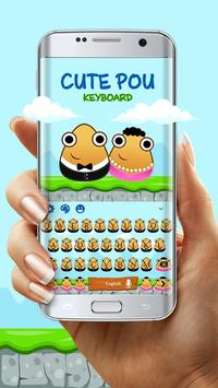 Cute Pou Friends Keyboard Theme screenshot 2