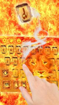 Hell Fire Lion Keyboard Theme poster