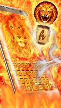Hell Fire Lion Keyboard Theme apk screenshot