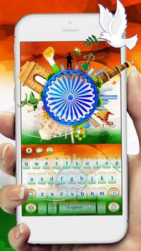Indian independence day keyboard Theme poster