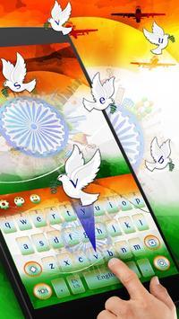 Indian independence day keyboard Theme apk screenshot