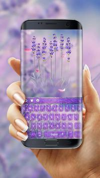 Purple Lavender Love Keyboard poster
