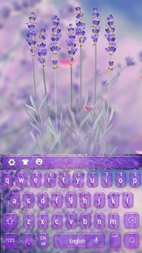 Purple Lavender Love Keyboard apk screenshot
