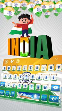 Indian Flag Keyboard Theme poster