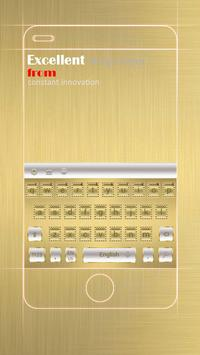 Luxury Gold Business Keyboard Theme poster