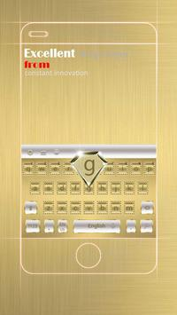 Luxury Gold Business Keyboard Theme apk screenshot