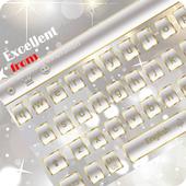 Gemstone Diamond White Transparent Keyboard Theme icon