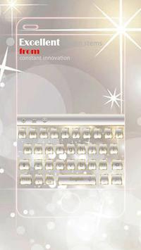 Gemstone Diamond White Transparent Keyboard Theme poster