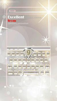 Gemstone Diamond White Transparent Keyboard Theme apk screenshot