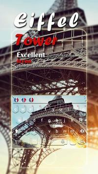 Eiffel Tower  keyboard theme Nostalgic photo poster