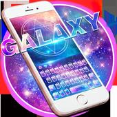 Neon galaxy keyboard icon
