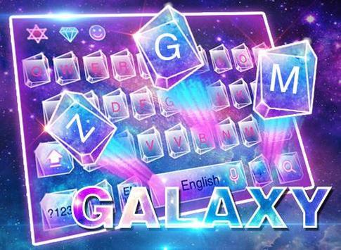 Neon galaxy keyboard apk screenshot