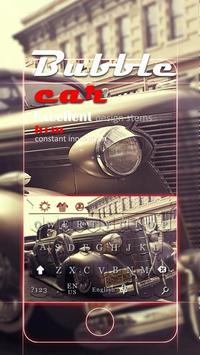 beat-up carr theme  vintage cars jalopy keyboard poster