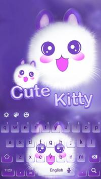 Cute Kitty Kawaii-Keyboard poster
