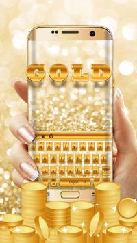 Glitter gold keyboard poster
