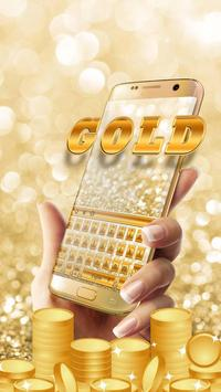 Glitter gold keyboard apk screenshot