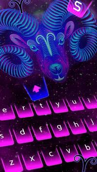 Fiery Powerful stylish Aries Keyboard poster