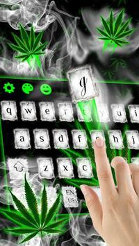 Weed Rasta Smoke Keyboard poster