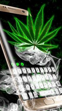 Weed Rasta Smoke Keyboard screenshot 1