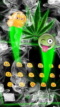 Weed Rasta Smoke Keyboard screenshot 2