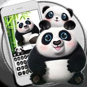Cute panda keyboard icon