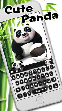 Cute panda keyboard poster