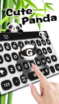 Cute panda keyboard apk screenshot