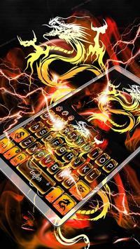 Gold Dragon Keyboard Theme poster