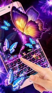 Neon butterfly keyboard apk screenshot