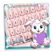 Lovely Rabbit Cartoon Keyboard icon