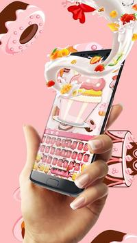 Pink ice cream fruit keyboard poster