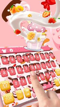 Pink ice cream fruit keyboard apk screenshot