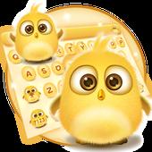 lovely yellow bird keyboard icon