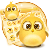 lovely yellow bird keyboard icon