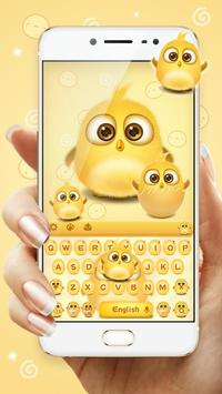 lovely yellow bird keyboard poster