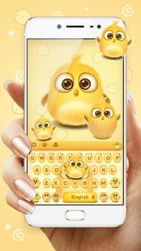 lovely yellow bird keyboard poster