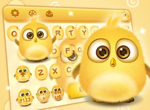 lovely yellow bird keyboard apk screenshot