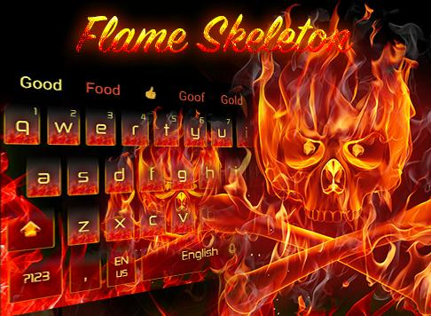Hot Flame Evil Skull Keyboard Theme For Android Apk