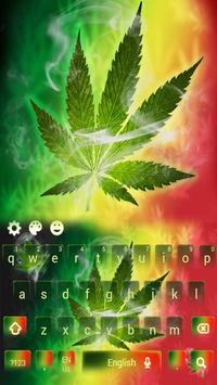 Weed Rasta Ganja Smoke Keyboard screenshot 1