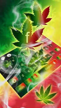 Weed Rasta Ganja Smoke Keyboard screenshot 2