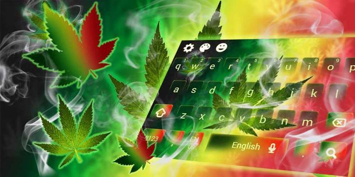 Weed Rasta Ganja Smoke Keyboard screenshot 4