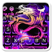 Purple Neon Dragon Keyboard Theme icon
